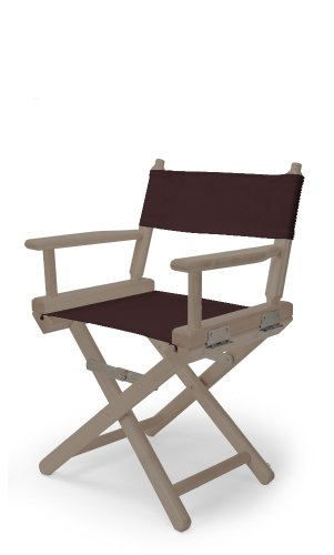 Telescope Casual Child'S Director Chair, Rustic Grey With Brown Canvas Fabric