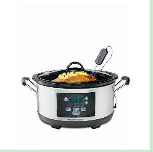 Digital Slow Cookers: Hamilton Beach 33862 6 Qt. Set 'N Forget Slow Cooker