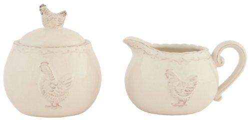 chrcrsu Clayre & Eef-Pot à lait et sucrier-Poulet CA. 3,5x 3,5x 4.3/11,9x 7,9x 8,9cm