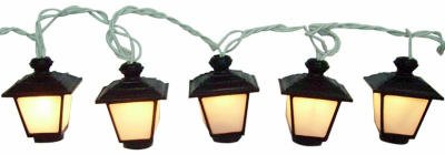 Luckytown Home Product Ac-234-Fs Four Seasons Courtyard 10-Light Empire Lantern Outfits String-Light Set, White