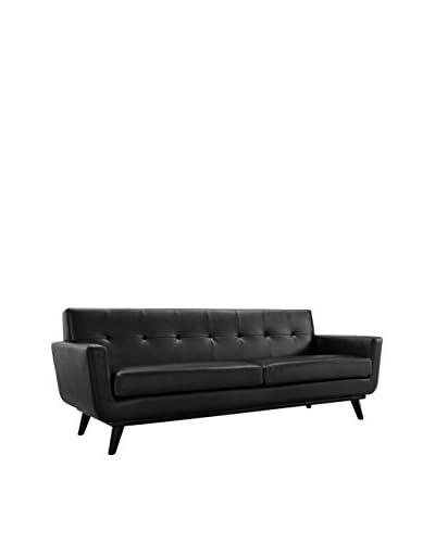 Modway Engage Leather Sofa, Black