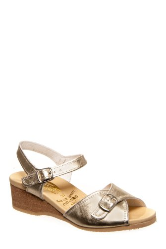 Worishofer 711 Low Wedge Sandal - Gold