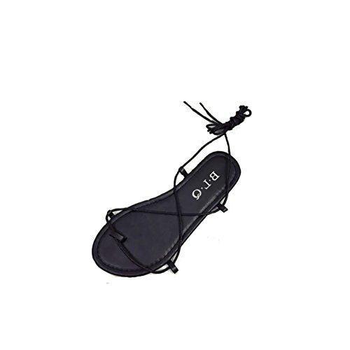 Refroidir en été creuse cross bottes à embout sangle/Sandales plates occasionnels avec plat
