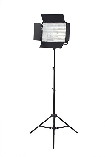 Studiopro Single 1200 Cn-1200Chs Bi Color Led Photography Lighting Panel And Light Stand Kit, Continuous Bi Color Barndoor Led Lighting, Photo Studio Video Film Lighting Kit