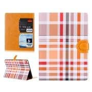 Colorful Plaid Pattern Leather Case with Holder and Card Slots for iPad Air 2 / iPad 6