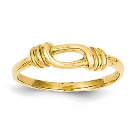 Genuine IceCarats Designer Jewelry Gift 14K Love Knot Band Size 7.00