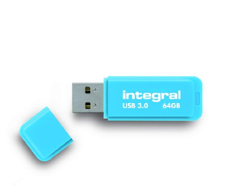Integral Neon 64GB USB 3.0 Flash Drive - Blue