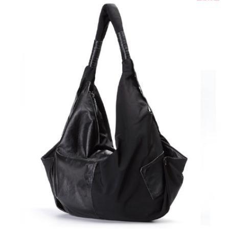 ZY Borse di moda. Grande sacchetto. Sacchetto di nylon impermeabile di grande capacità per il tempo libero. Borsa a tracolla Messenger. Borsa grande , black