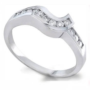 0.24CT tw Round Diamond Eternity Ring 18k Gold