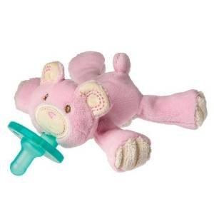 Wubbanub Thready Teddy Pacifer, Pink. Baby, Plush, Toys, Wabbanub, Pacifier, Babies, Infant Home Improvement / Accessories front-1015086