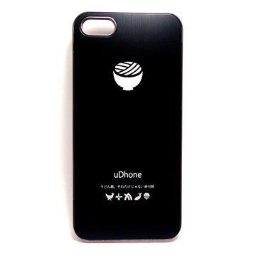 【あいほん屋オリジナル】うどん県 x iPhone 5/5s 用ケース 『uDhone』 ブラック
