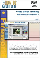 Fireworks 8 Video Tutorial Training on DVDRom. 9 Hours in 105 Video Lessons, new computer software instruction