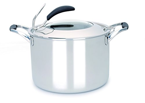 Gunter Wilhelm Model 308 - 8QT StockPot with lid - 5PLY Stainless Steel Cookware