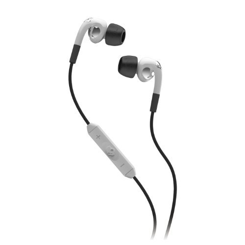 Skullcandy Fix Ear-Buds With 3 Button Remote - White / Chrome