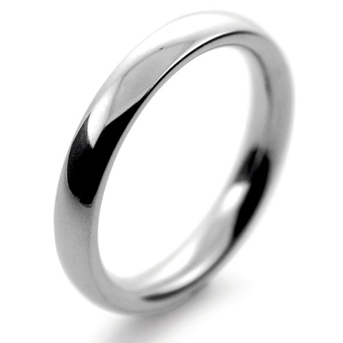 Palladium Wedding Ring Court Very Heavy - 3mm