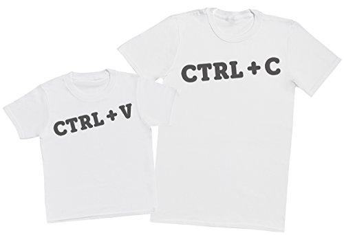 CTRL-C-CTRL-V-Ensemble-Pre-enfants-Cadeau-Hommes-T-shirt-et-enfants-T-shirt