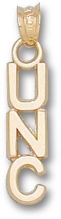 North Carolina Tar Heels Vertical UNC Pendant - 14KT Gold Jewelry by Logo Art