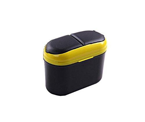 Generic Yellow Mini Portable Car Auto Trash Garbage Rubbish Can Bin Dust Box Holder : Size - 3.94x5.12x7.09