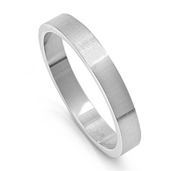 Plain Stainless Steel Wedding Ring - Size : 15