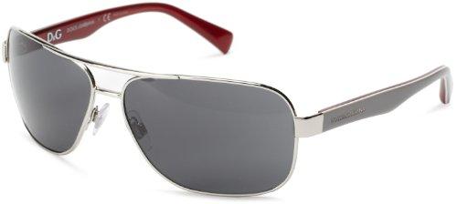 D&G Dolce & Gabbana 0Dg2120P 117287 Wrap Sunglasses,Silver,64 Mm