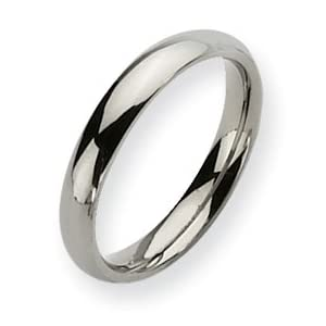 Titanium 4mm Polished Band Ring