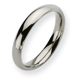 Titanium 4mm Polished Band Ring - Size 11 - JewelryWeb
