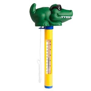 Ultranatura Thermomètre de baignoire et piscine flottant, motif animaux - Crocodile