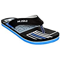 Mr.Polo Smart Blue flip flops(EUE-Blueblack_9, 9 )