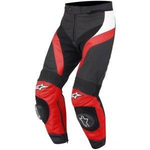 Alpinestars GP Plus Lederhose, Farbe schwarz-rot, Größe 52
