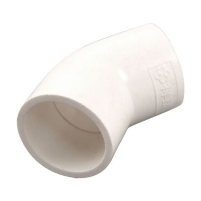 PVC-U 32mm Drainage Pipe Adapter Connector 45 Degree Elbow White 5 Pcs