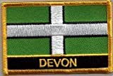 English County Flag Embroidered Patch T9 - Devon
