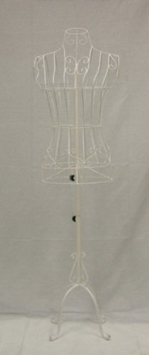 Brand New Female White Steel Wire Mannequin Dress Form 33