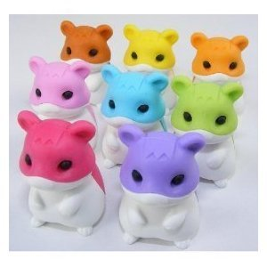 Amazon.com: Hamster Japanese Erasers - 8 Pc Children, Kids