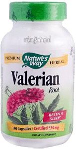 Valerian, Root, 530 mg, 180 Capsules by Nature's Way