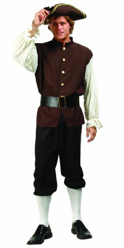 RG Costumes Men's Colonial Man, Brown, One Size