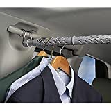 Auto Clothes Bar - Expandable Garment Rack That Hangs In Your Car (Grey) (Extends 35 - 59 Long)