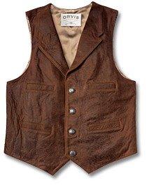 Frontier Leather Vest - Buy Frontier Leather Vest - Purchase Frontier Leather Vest (Orvis, Orvis Vests, Orvis Mens Vests, Apparel, Departments, Men, Outerwear, Mens Outerwear, Vests, Mens Vests)