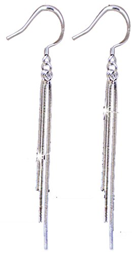 Vintage Long Earings 925 Sterling Silver Tassel