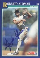 Roberto Alomar San Diego Padres 1991 Score Autographed Hand Signed Trading Card -... by Hall+of+Fame+Memorabilia