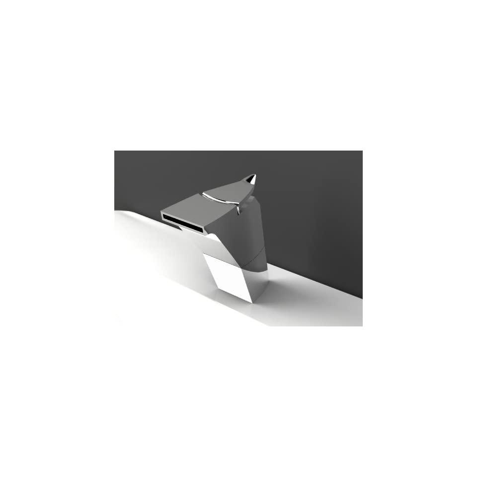 Aquabrass 67715PC Polished Chrome Niu Single Handle Bathroom Faucet with Metal Lever Handle from the Niu Collection 67715
