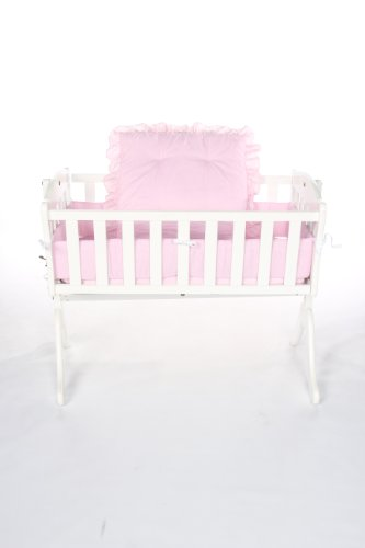 Baby Doll Bedding Gingham Cradle Set, Pink