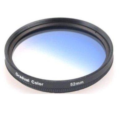NEEWER® 52MM Gradual Color Lens Filter (Blue) for ANY Camera Lens with 52MM Filter Thread