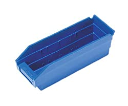 Storage Shelf Bins Economy 11 x 4 x 4 BLUE, 36 Pack