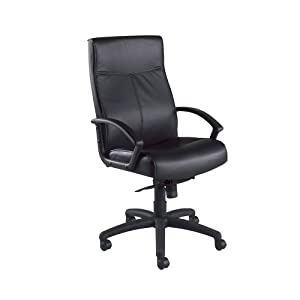 National Office Furniture Result High Back Executive Office Chair, Black Leather