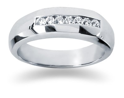 0.25 ctw Men's Diamond Ring in Palladium