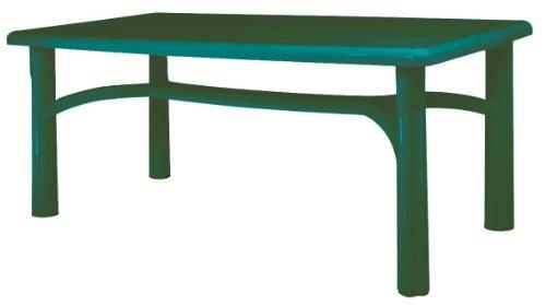 Resol Bolero Garden Table - Green - Patio Outdoor Plastic Furniture - 140 x 90 cm