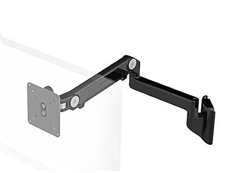 Humanscale m2hb2s supporto da parete con braccio orientabile (massima portata 9kg, altezza di regolazione: 254mm, portata del braccio: 508mm, VESA MIS-D) Nero