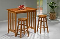 Hot Sale Boraam 3 Piece Mission Pub Set Color: Fruitwood