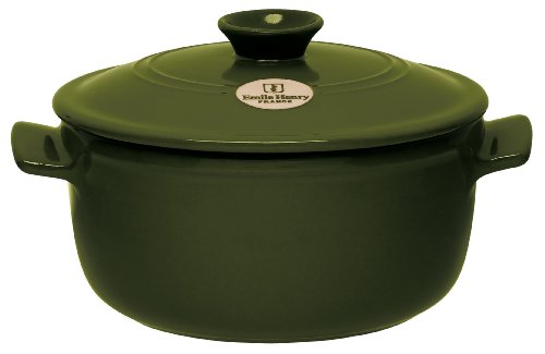 Emile Henry New 2.6-Quart Flame Round Stew Pot, Olive