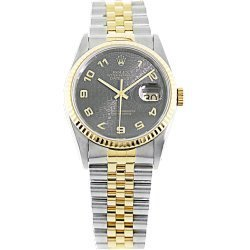 Original Rolex Datejust 18k Vintage Genuine Man Watch